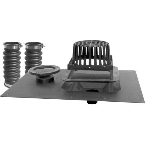 - LSP T-6103 Roof Drain Uni Flex with Overflow Includes Hardware Kit