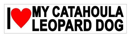 JS Artworks I Love My Catahoula Leopard Dog Vinyl Sticker Decal