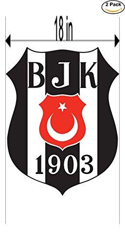 fan products of Besiktas JK Turkey Soccer Football Club FC 2 Stickers Car Bumper Window Sticker Decal Huge 18 inches