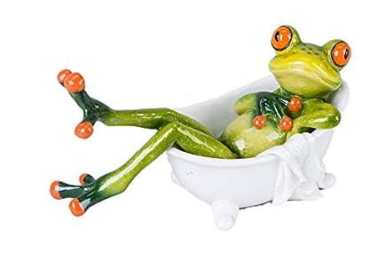 Set Bagno Rana : Decorazione rana nella vasca da bagno verde chiaro 14 cm: amazon