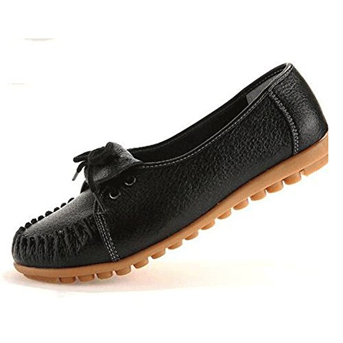 FTSUCQ Women's Duck Skimmer Portobello Moccasin Fulton Glitter Flat Black Shoes,US - Margiela Outlet