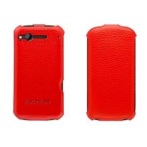 Katinkas Twin Flip - Funda de cuero para HTC Desire S, color rojo