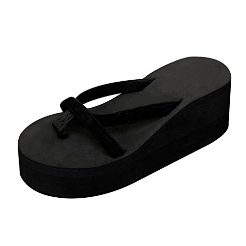 Black Sandals Black Heel Flops Summer Fashion Platform High Slippers Jwhui Home Shoes Bathing Women Flip Straped Z1xCUqvwv5