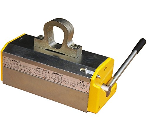 Armstrong-Lifting-Magnet-NL-4400B2-4400-lb-Max-Lift-Capacity-13200-lbs-Break-Away-Force-Limited-Lifetime-Waranty