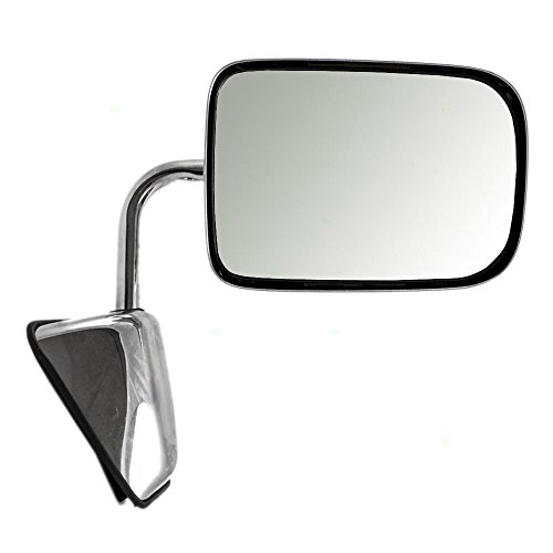 - Passengers Manual Side View Chrome Mirror Replacement for Dodge Pickup Truck SUV 55074998