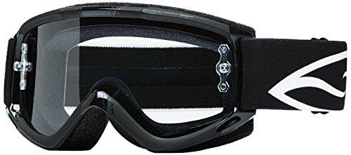 Smith Optics Fuel v.1 Max Motocross Goggles (Black Brush Frame/Clear Lens) (Smith Goggles Fuel Goggle)