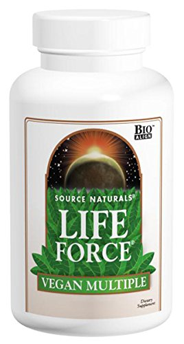 SOURCE NATURALS Life Force Vegan Multiple Tablet, 120 Count ()