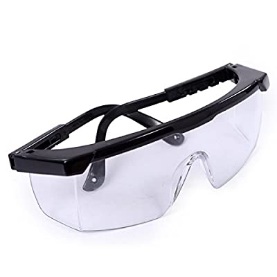 HDE Safety Glasses Clear Lens Protective Eyewear for General Work Science Labs