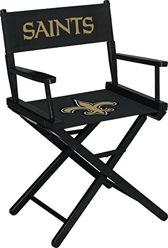 Imperial Officially Licensed NFL Merchandise: Directors Chair (Short, Table Height), New Orleans Saints (Wooden Team Chair)
