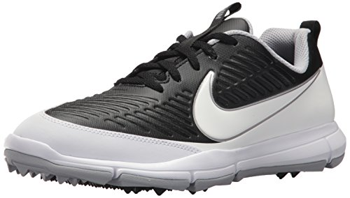 save off 9fcca 9a447 NIKE Men s Explorer 2 Golf Shoe, Black White Metallic Silver Wolf Grey