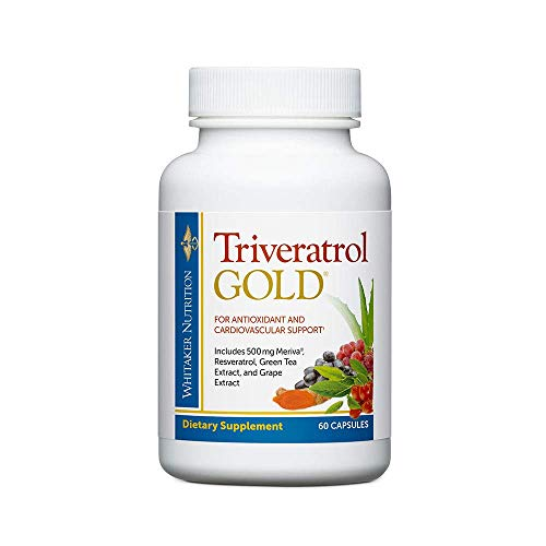Dr. Whitakers Triveratrol Gold - Healthy Aging Supplement with Resveratrol & Extracts of Aloe Vera, Green Tea, and Turmeric - Provides Antioxidant Protection & Cardiovascular Support (60 Capsules)