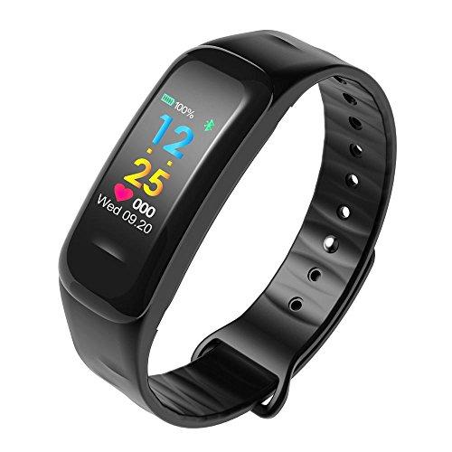 Hp95 Bluetooth Smart Watch  Waterproof Fitness Tracker Blood Pressure Heart Rate Monitor Pedometer For Women Men  Black