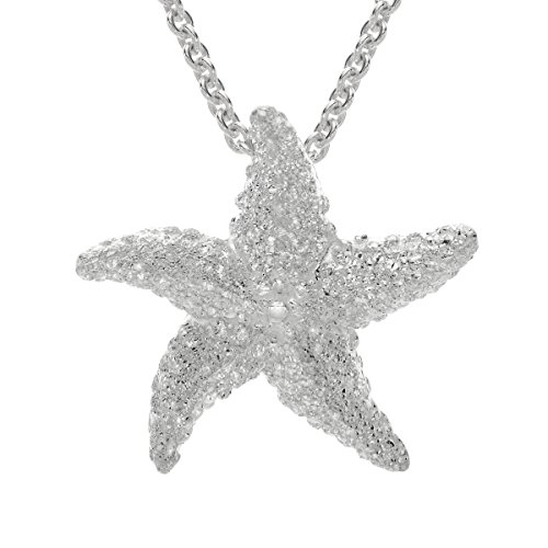Kabana Small Starfish Pendant Necklace in Sterling for sale  Delivered anywhere in USA