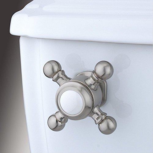 Kingston Brass Buckingham Toilet Tank Cross Handle - Satin Nickel , Bathroom plumbing fixtures & sinks ()