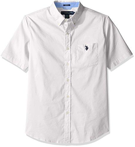 U.S. Polo Assn. Mens Short Sleeve Single Pocket Slim Fit Solid Sport Shirt