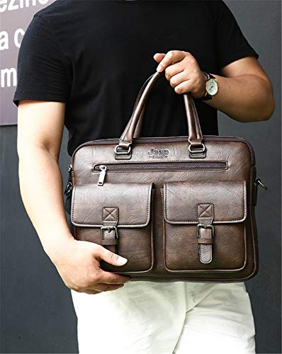 Simple Affaire Porte Mode Hommes Grand Handbag Meceo Shoulder Tablette Marron1 Cuir Vintage Bags Document En Sacoche qzwRwv