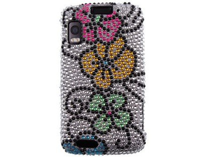 Diamond Design Phone Protector Cover Case Hawaii Flower For Motorola ATRIX 4G