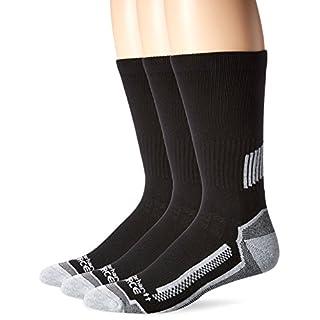 Carhartt Men's Force Performance Work Crew Socks (3/6 Packs), Black, Shoe Size: 6-12