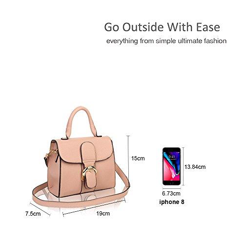 Satchel Pink Vintage Tiny Bag Handbag Shoulder Classic Ladies UPxwqvE