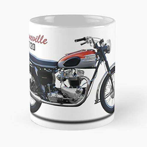 Best 11 Ounce Ceramica Coffee Mug Gift Triumph Bonneville Motorcycle Vintage Old Motor