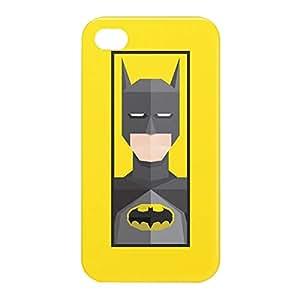Loud Universe Apple iPhone 4/4s 3D Wrap Around Batman Print Cover - Yellow/Black