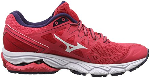 evening Wave De Blue Para Running Zapatillas Rojo 10 Ultima teaberry 02 Mujer white Mizuno PTBxdqfwf