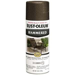 Rust-Oleum 7218830 Hammered Metal Finish Spray, Dark Bronze, 12-Ounce