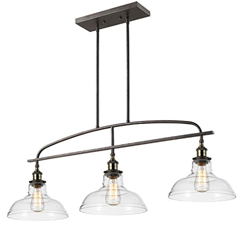 claxy ecopower kitchen linear island pendant lighting vintage lamp chandelier 3 lights amazoncom