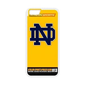 Custom for iPhone 6 4.7 Inch Cell Phone Case White Notre Dame Fighting Irish HHHLJHKSH2175