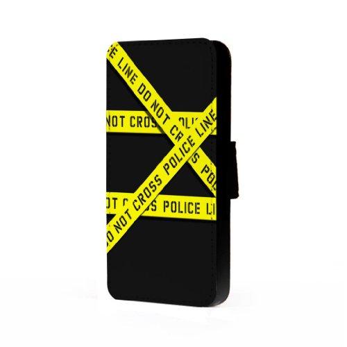 Do Not Cross Police - Samsung Galaxy S4 Trifold Wallet Case (Samsung S4 Police Case)