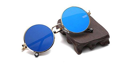 soleil inspirées lunettes Bleu vintage métallique en de du Lennon cercle Film rond retro polarisées style wttT5qZpng
