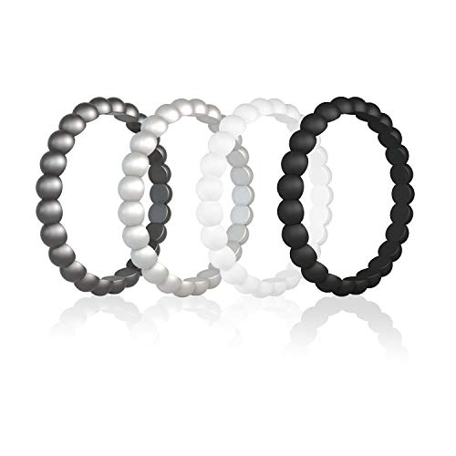 Egnaro-Silicone-Wedding-Ring-for-Women-Thin-and-Stackable-Wedding-BandsRubber-BandsSize-3-10Comfortable-fitNo-ToxicSkin-Safe