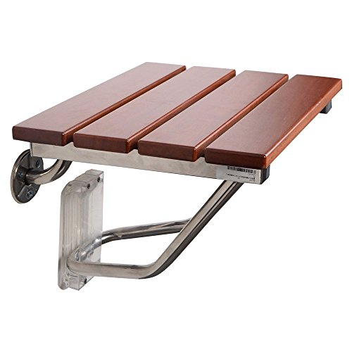 Shower Enclosures Seat (Kissemoji Folding Bath Seat Solid Wood Shower Chair Wall Mount)