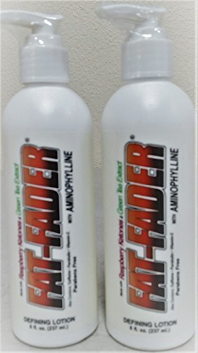 Fat Fader Slimming Lotion (2 Pack) 2.5% Aminophylline w/ Raspberry Ketones & Green Tea Extract