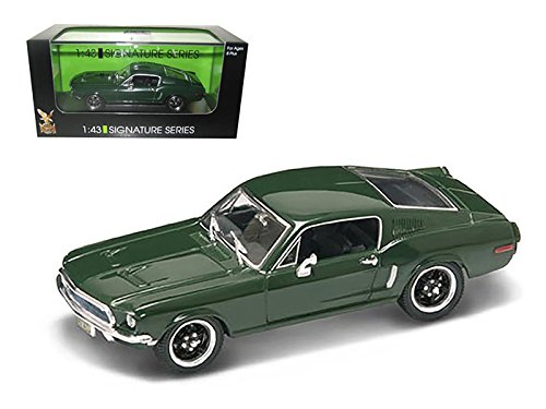StarSun Depot 1968 Ford Mustang GT Green 1/43 Car Model Signature Series by Road Signature