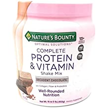 Nature's Bounty Chocolate Flavored Protein Shake Mix, 16 Ounces (2 Pack)