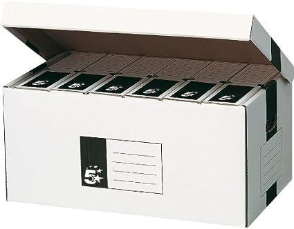 5 Star - Caja para cajas de archivo (con tapa, 520 x 260 x 340 mm ...