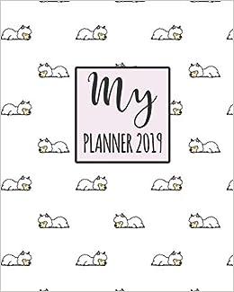 My Planner 2019: Llama Pattern Weekly Planner 2018 - 2019 ...