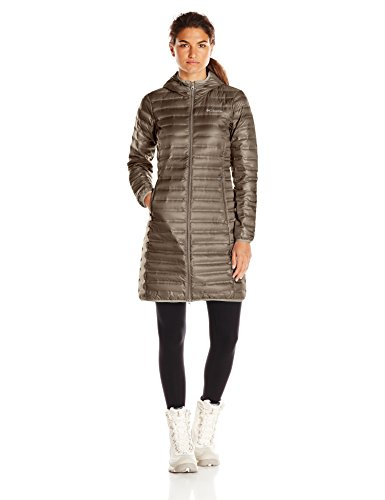 Columbia Women's Flash Forward Long Down Jacket, Major, X-Large (Brown Down Women Coats)
