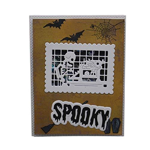 STAR-FIVE-STORE - Letters Spooky Halloween Metal Cutting Dies Craft Dies Scrapbooking carbon Die Cut Embossing Stencils Card Making