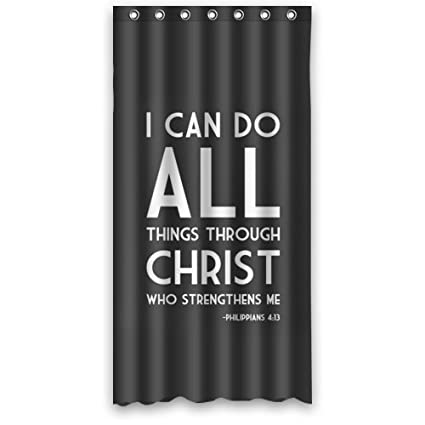 Amazon WECE Bible Verse Philippians 413 Shower Curtain 36 X