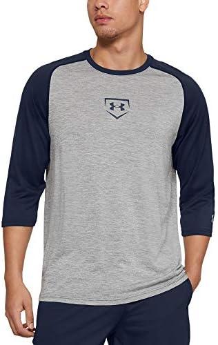 メンズ ユーティリティー 3/4 ベースボールシャツ