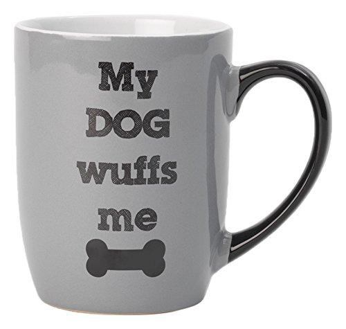 Multicolor Pet Rageous My Dog Wuffs Me Gray Mug 24 oz