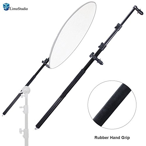LimoStudio Extendable Photo Studio Lighting Reflector Holder Bracket Bar with Rubber Handle Grip, AGG2517 by LimoStudio