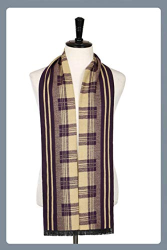 Beige Winter Cashmere Striped Plaid For Amdxd Autumn Rhombe Purple Scarf Men Change 180cm Rq1dSadw