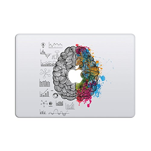 Laptop Stickers MacBook Decal - Removable Vinyl Decal w/Glowing Apple Logo Diecut - Left Right Brain Decal Stickers Skin for MacBook Air Pro 13 15 inch Mac Retina - Best Decorative Sticker by Artsybb