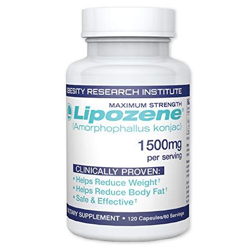 Lipozene MEGA Bottle – 120 Capsules – Largest Size Available – Appetite Suppressant and Control