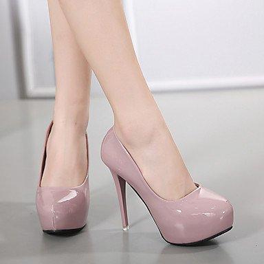 LvYuan-ggx Damen High Heels Fersenriemen PU Frühling Normal Normal Normal Fersenriemen Weiß Schwarz Rot Rosa 7 5 - 9 5 cm 8c32c9