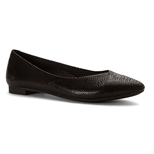 piatto Caballo donna Vionic Black Orthaheel Technology with Snake wqRqBXzItn