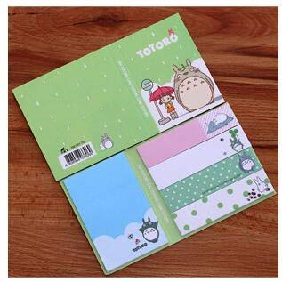 Office Decoration Memo Pads - Cute Hello Kitty Totoro Paper Memo Pad Sticky Notes Adhensive Stickers Bookmark Marker of Page Stationery School Office Supply 1 Pcs -